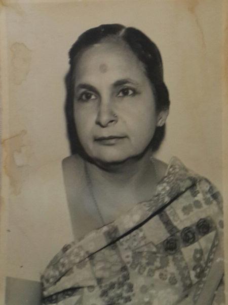 Bela's mother and Sri Ram Puri's daughter, Chander Kanta