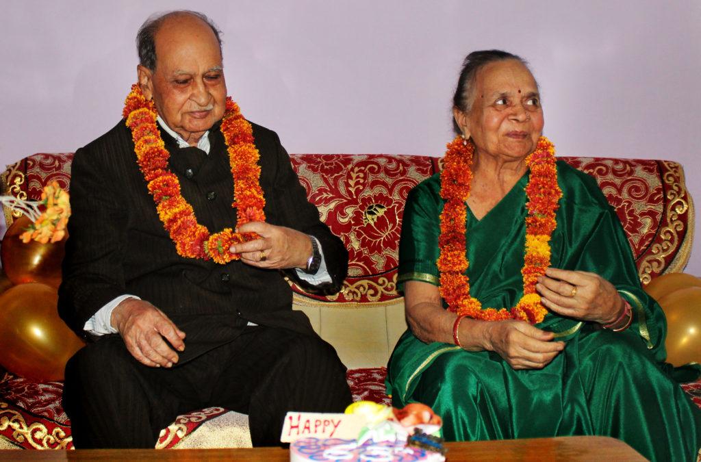 Vimal Chand Jain and Vimla Devi Jain on their 63rd anniversary