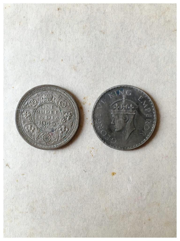 One rupee, 1945