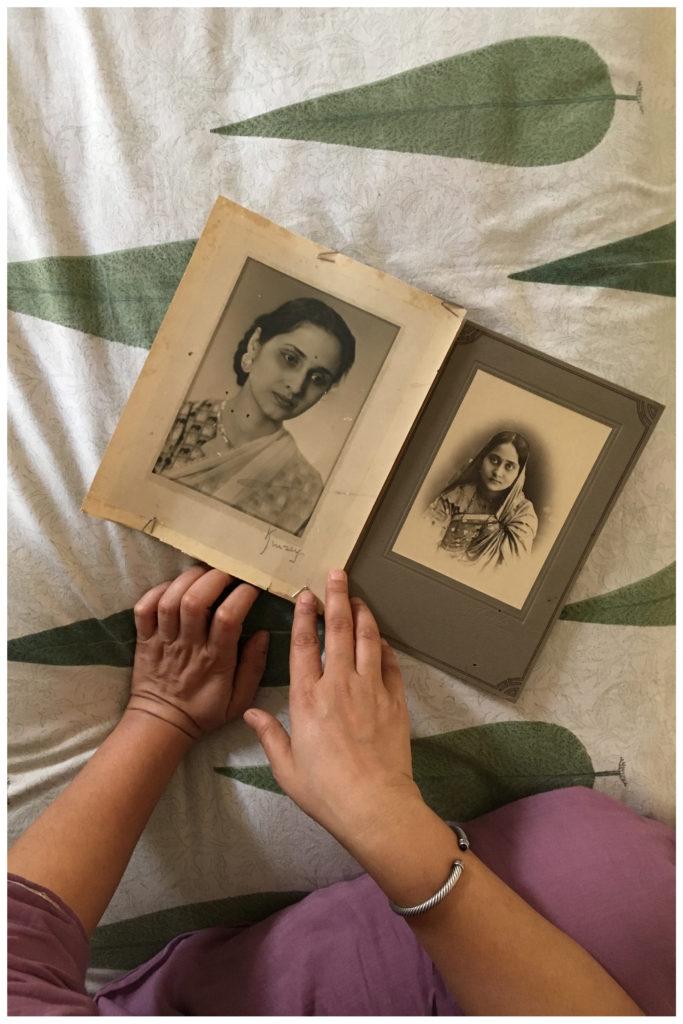 Studio portraits of Shalini's grandmother, Basanti Sanyal née Bagchi, and great grandmother, Uma Bagchi née Maitra