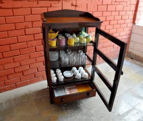 The Meat Shelf repurposed as a Crockery Case