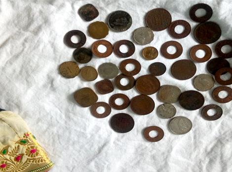 Coins belonging to Prem Kanta Anand